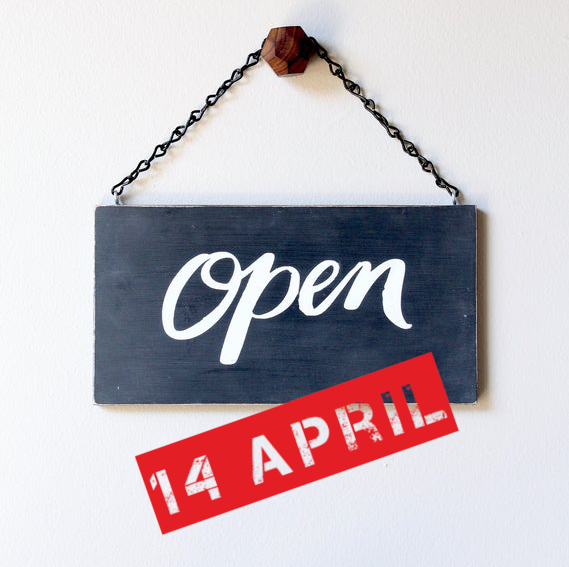 Open from 14 April